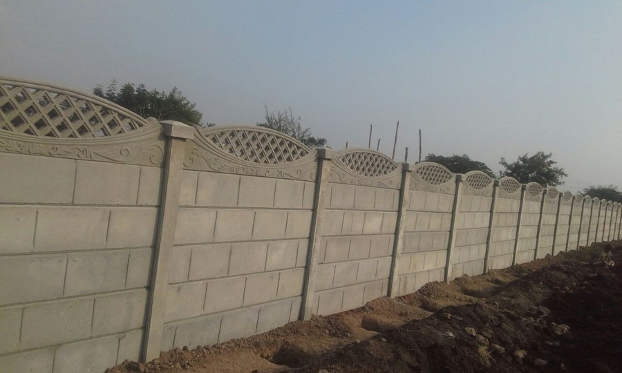 Precast Compound Wall : Pride precast paver blocks pvt ltd concrete curbstone